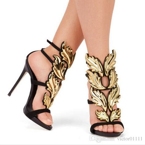 winged gladiator sandals 2016 black metallic winged gladiator sandals