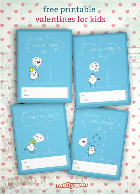 valentines cards for school printable mollymoocrafts adorable free printable class valentines