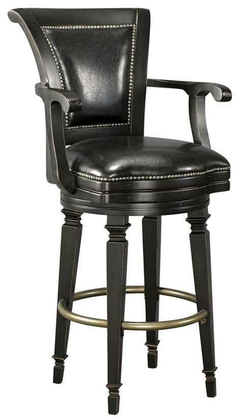 howard miller bar stools howard miller northport 697 009 black leather bar stool