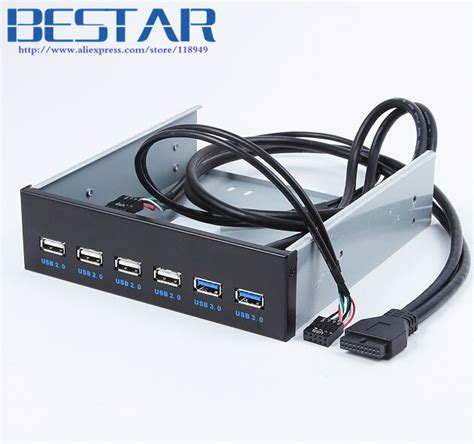 Rexus 4 Ports Usb 3 0 Usb 2 0 Hub Port Speed 5 Limited desktop computer 4 ports usb 2 0 2 ports usb 3 0 front panel drives expansion usb3 0 cd rom