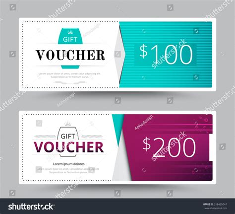 gift voucher card business voucher template vector