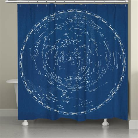 constellation shower curtain stars and constellations chart shower curtain laural home