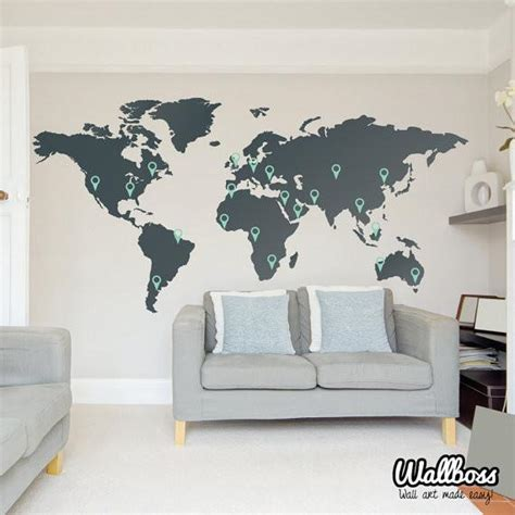 Large World Map Wall Sticker world map wall sticker wallboss wallboss wall stickers