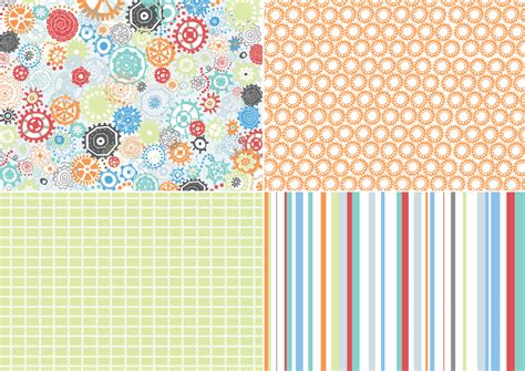 Patterned Paper For Card - draws robots for papercraft inspirations