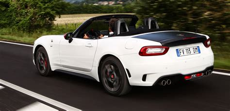 fiat abarth performance fiat releases oz performance specs for abarth 124 spider