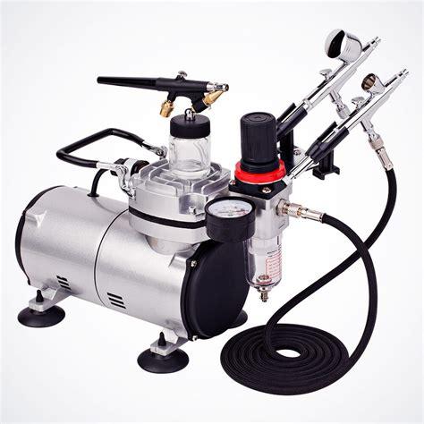 new 3 airbrush compressor kit dual spray air brush set nail 6952938337502 ebay