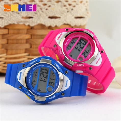 Jam Tangan Ripcurl Led Touch Screen Gold Crome 6 alarm watches