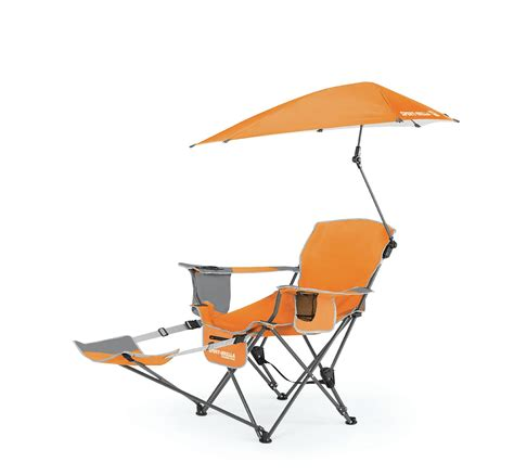 Reclining Chair With Umbrella by Sport Brella Recliner Chair Orange Fitness Sports