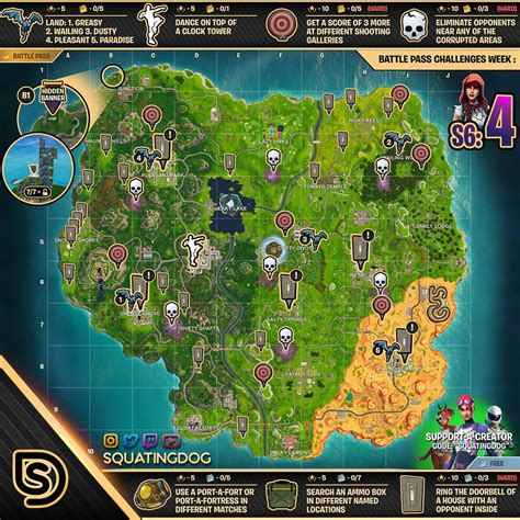fortnite week 4 challenges fortnite season 6 week 4 challenges sheet sorrowsnow77