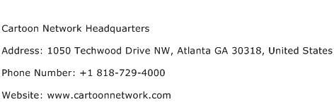 cartoon network headquarters address contact number  cartoon network headquarters