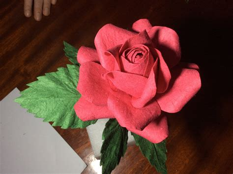 How To Make Handmade Paper Roses - how to handmade paper flower tutorial