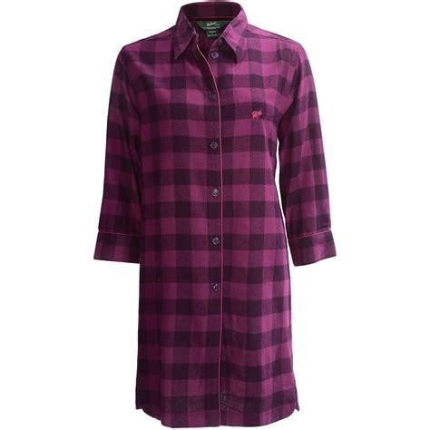 flannel nightshirt pattern woolrich buffalo check flannel nightshirt long sleeve