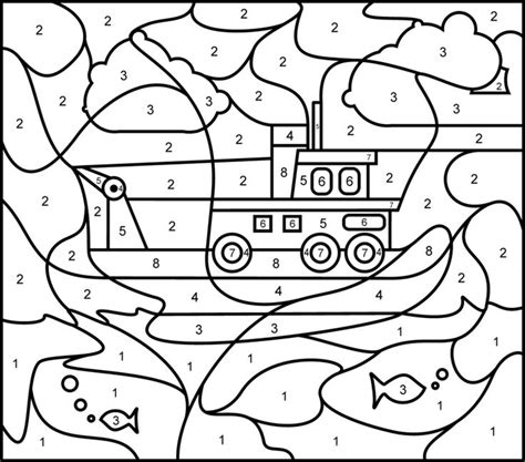 hard coloring pages for teachers ship printable color by number page hard онлайн