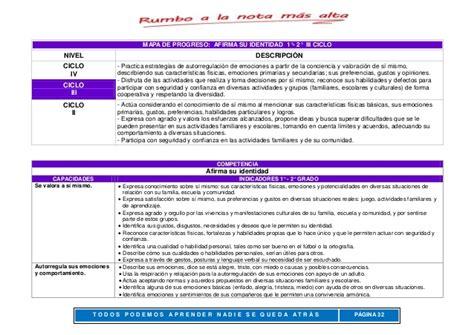 matriz de competencias capacidades indicadores primaria 2015 tercer grado matriz de competencias capacidades e indicadores iii