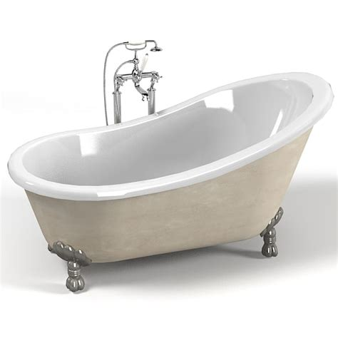 model in bathtub 3d classic devon bath