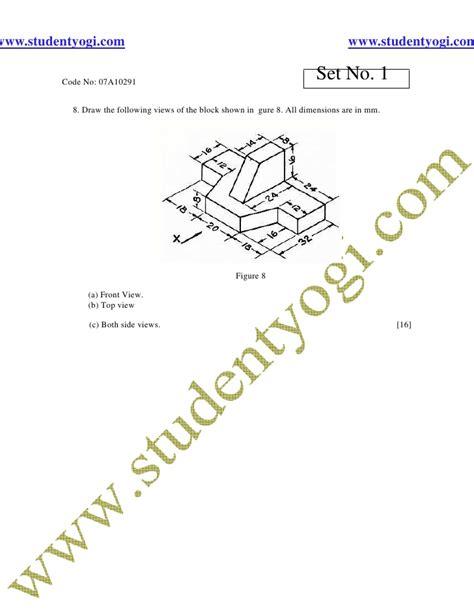 Engineering Drawing Jntu Model Paper Www Studentyogi Com