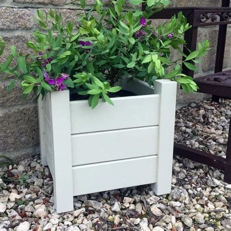 Provence Planters by Provence White Chalk Wooden Planters Fallen Fruits The
