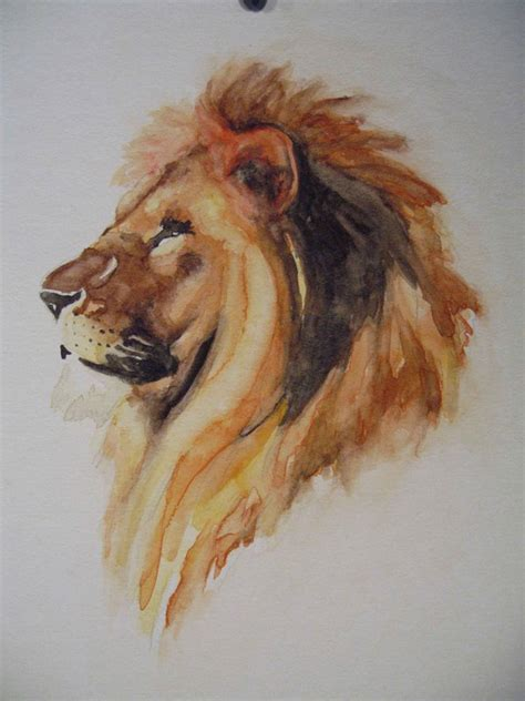 watercolor tattoo lion 1000 images about watercolor on