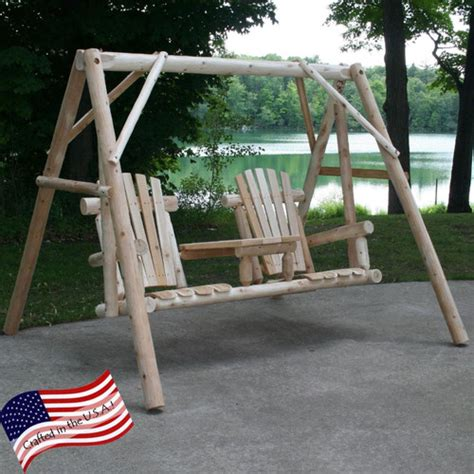 lakeland mills swing tete a tete porch swing with stand wayfair