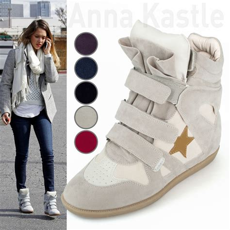 womens high top fashion sneakers details about annakastle womens velcro high top