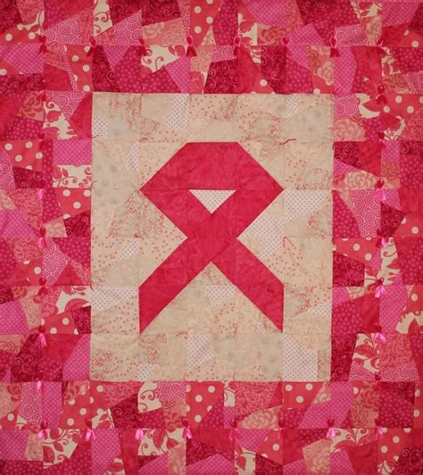 Pink Ribbon Quilt Pattern by Pink Ribbon Wallhanging Quilt Kit Sew For Breast Cancer Ebay
