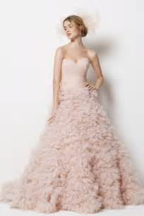 wedding trends blush wedding dresses the magazine