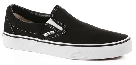 Vans Slip On Black vans classic slip on shoes black free shipping