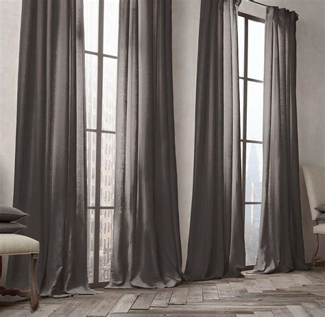 Belgian Linen Curtains Belgian Opaque Linen Drapery From Restoration Hardware Things I