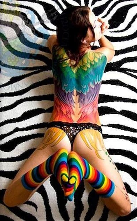 very colorful wing tattoo dresses an tattoos pinterest