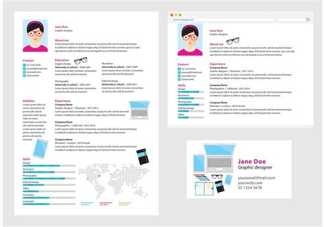 graphic design cv vector vector curriculum vitae graphic designer download free