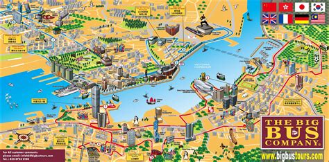 tourist attractions map hong kong tourist map