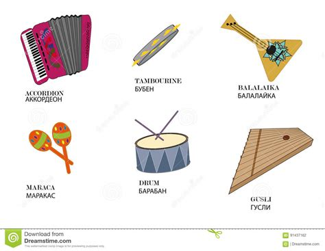 imagenes de instrumentos musicales hebreos instrumentos musicales populares rusos con el nombre del