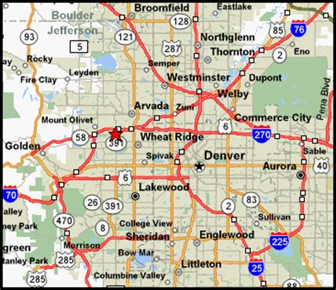 Detox Units Denver Metro Area by Denver Metro Map Holidaymapq