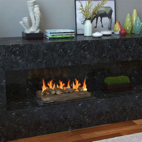 ceramic gas fireplace logs regal 22 inch oak ceramic fireplace gas logs 6