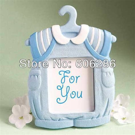 Baby Shower Favors Cheap Bulk by Wholesale 100pcs Lot Blue Baby Clothing Photo Frame Wedding Decoration Baby Shower Favors