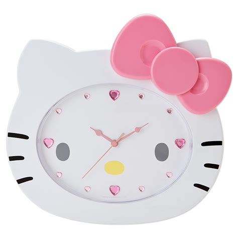 Home Decor Canada Online hello kitty face shaped wall clock sanrio japan japan in