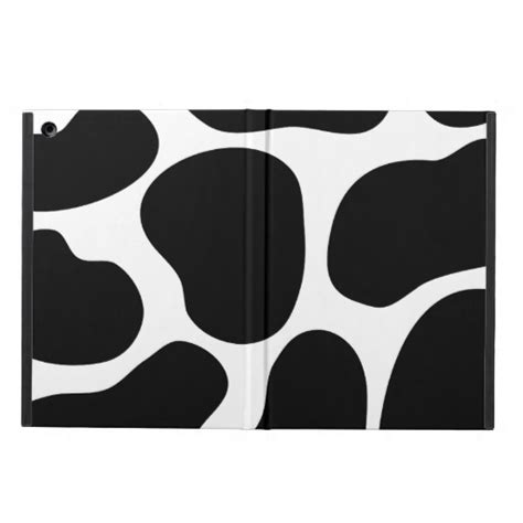 black and white cow print pattern cover for ipad air zazzle