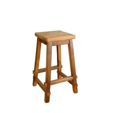 Wood Top Bar Stools by Reclaimed Barn Wood Square Top Bar Stool