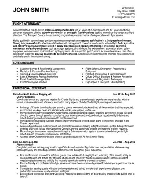 flight attendant resume sle template