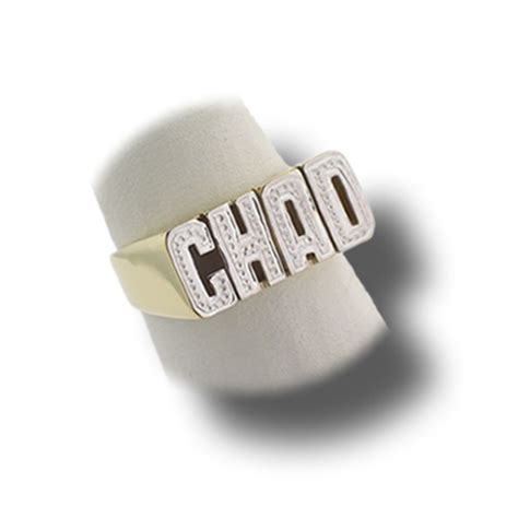 personalized custom name gold ring for