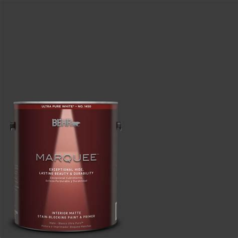 Home Depot 5 Gallon Interior Paint behr marquee 1 gal mq5 5 limousine leather one coat hide