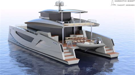 catamaran power boat hull design corentin yacht design power multihull