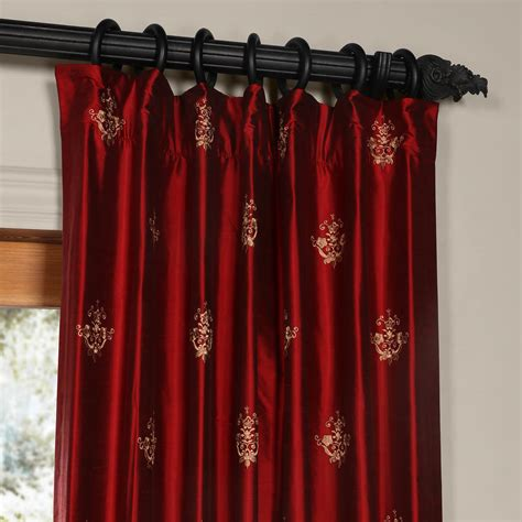 red silk drapes classic trophy bold red silk curtains and drapes