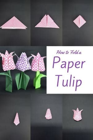 How To Fold A Paper Tulip - paper tulip tutorial
