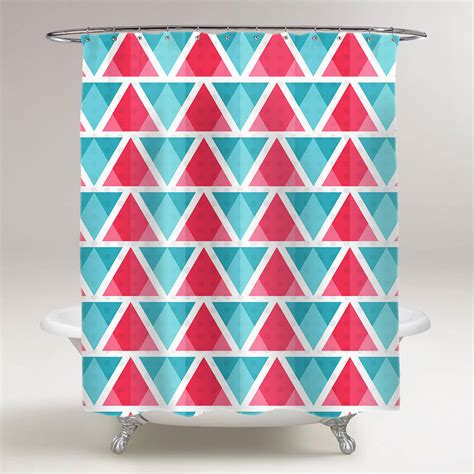 bright shower curtain abstract bright triangles pattern bathroom shower curtain