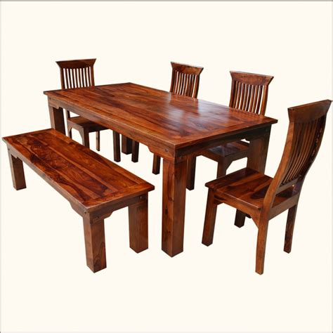 Mediterranean Casual Indian Rosewood 6pc Dining Set W Indian Rosewood Dining Table