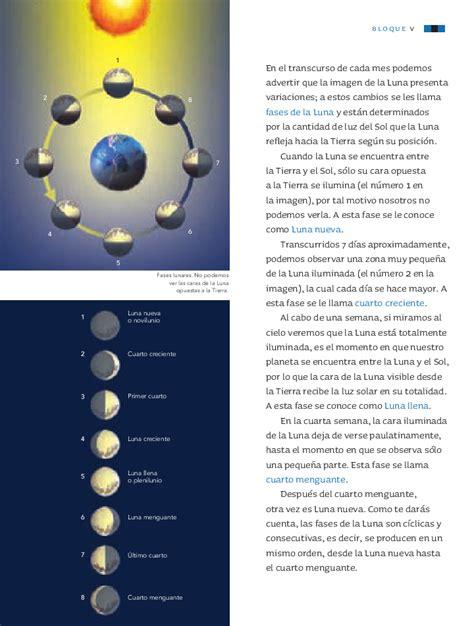libro sep ciencias naturales 3 las fases de la luna ciencias naturales 3ro bloque 5
