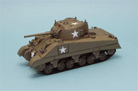 Papercraft Tanks - m4 sherman papercraft tank paper crafts