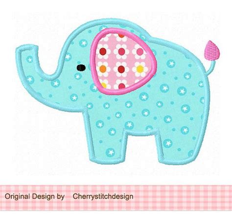elephant applique template elephant 04 applique 4x4 5x7 6x10 machine embroidery