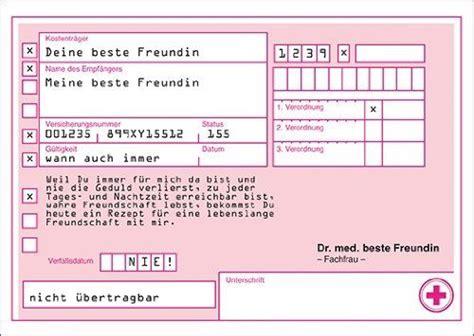 Word Vorlage Privatrezept Rezept Gutschein Karten An Quot Meine Beste Freundin Quot F 252 R Lebenslange Freundschaft